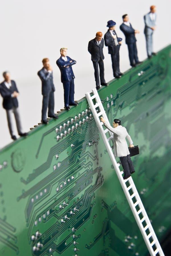 αναρρίχηση της εταιρικής &sig στοκ εικόνα με δικαίωμα ελεύθερης χρήσης