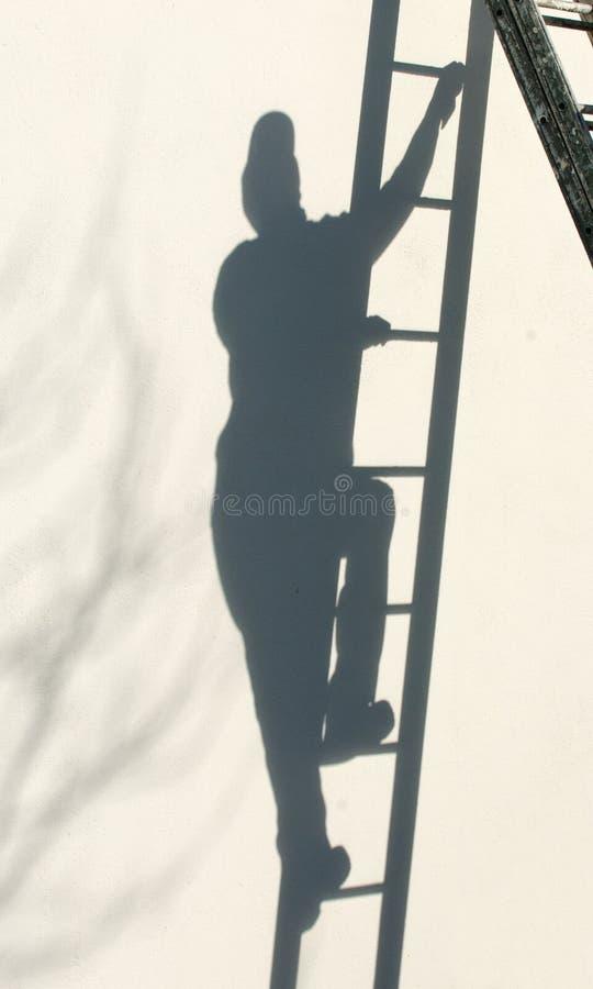αναρρίχηση της σκάλας στοκ φωτογραφίες