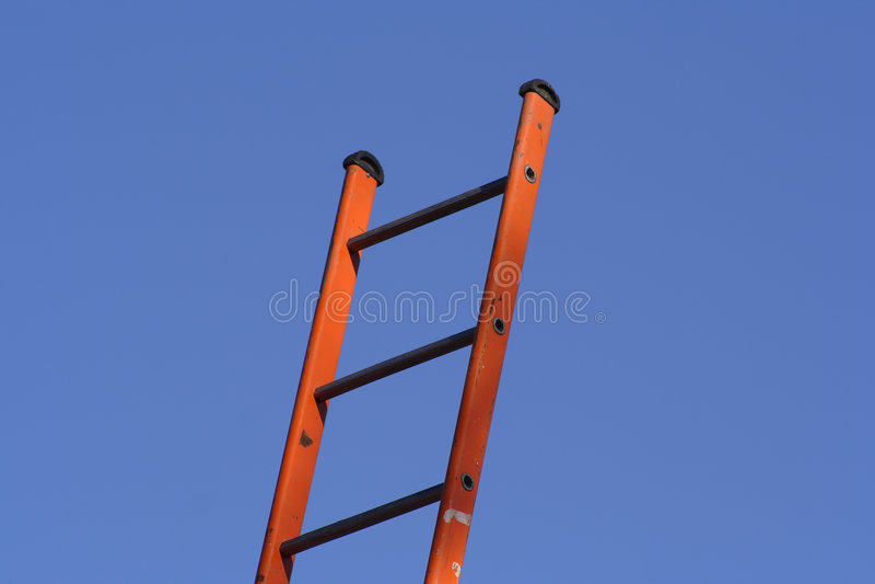 αναρρίχηση της σκάλας στοκ εικόνα με δικαίωμα ελεύθερης χρήσης