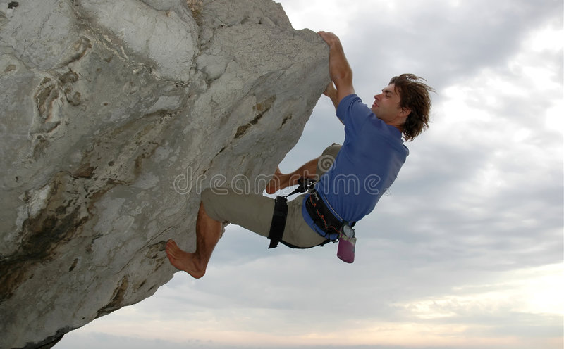 αναρρίχηση του βράχου στοκ φωτογραφίες με δικαίωμα ελεύθερης χρήσης