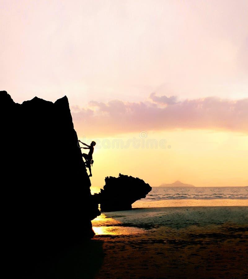 αναρρίχηση του βράχου στοκ εικόνες με δικαίωμα ελεύθερης χρήσης