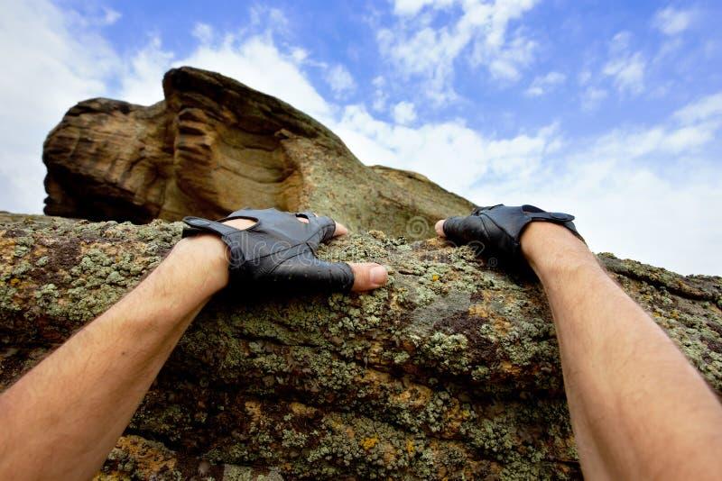 αναρρίχηση του βράχου στοκ φωτογραφία με δικαίωμα ελεύθερης χρήσης