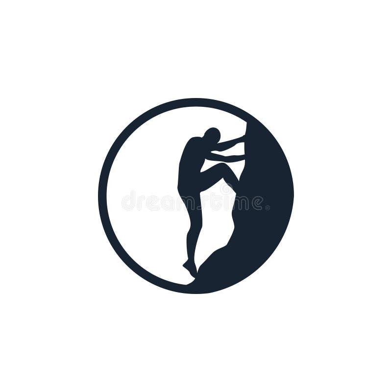 Αναρρίχηση του κύκλου λογότυπων σκιαγραφιών ελεύθερη απεικόνιση δικαιώματος
