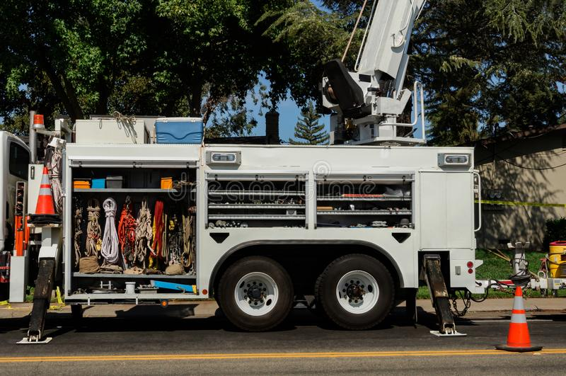 Αναρρίχηση του οχήματος για τη βιομηχανική και εφαρμογή διάσωσης στοκ εικόνες