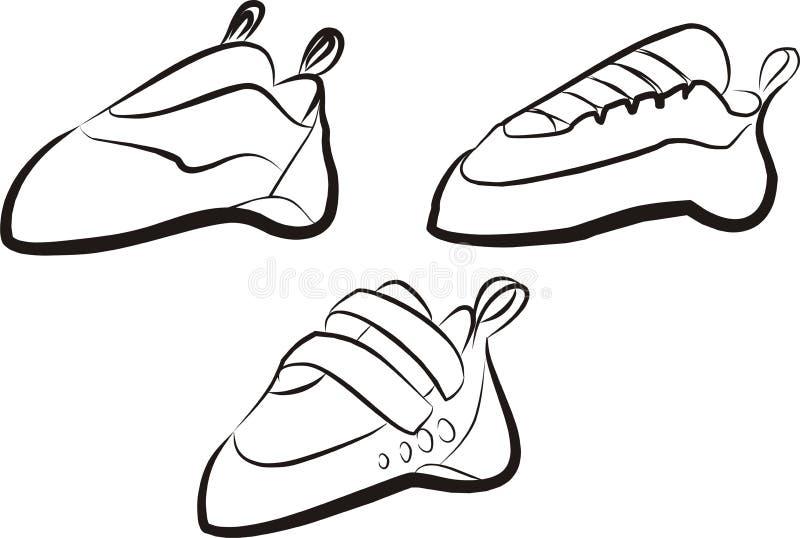 αναρρίχηση των παπουτσιών διανυσματική απεικόνιση