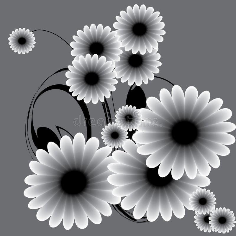 ανασκοπήσεις floral διανυσματική απεικόνιση