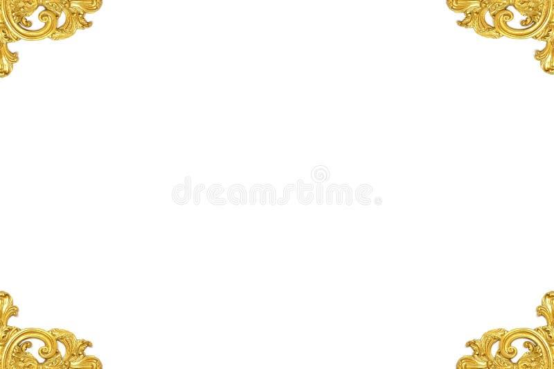 ανασκόπησης εκλεκτής ποιότητας λευκό εικόνων πλαισίων απομονωμένο χρυσός στοκ φωτογραφία