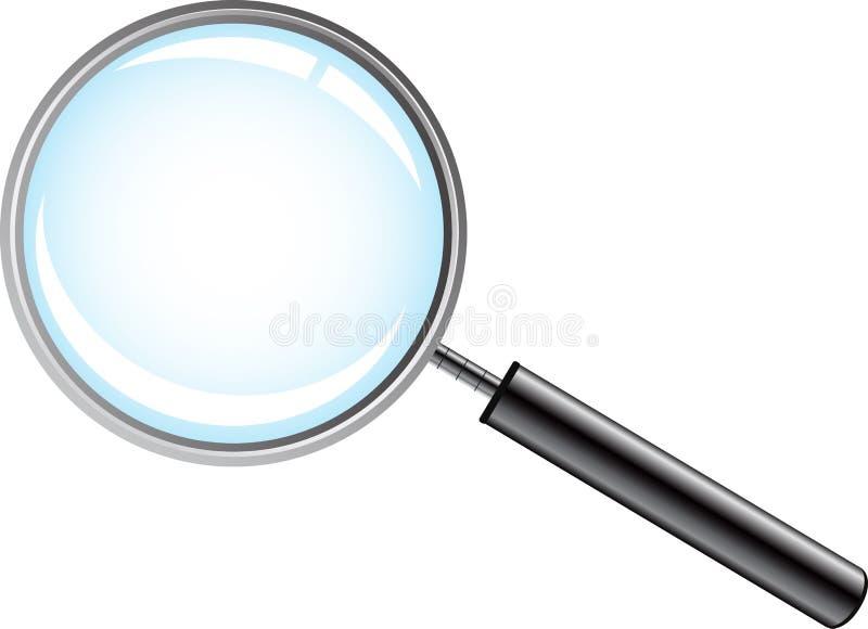 ανασκόπησης διανυσματικό λευκό ενίσχυσης γυαλιού απομονωμένο απεικόνιση απεικόνιση αποθεμάτων