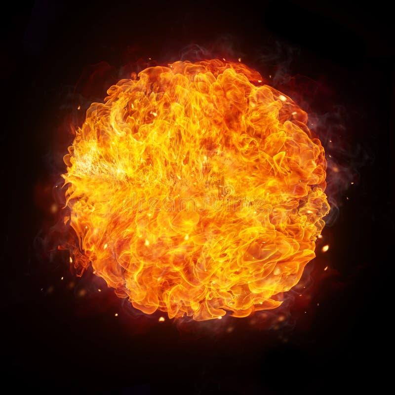 ανασκόπησης σφαιρών πυρκαγιά σχεδίου υπολογιστών που απομονώνεται μαύρη στοκ εικόνα με δικαίωμα ελεύθερης χρήσης
