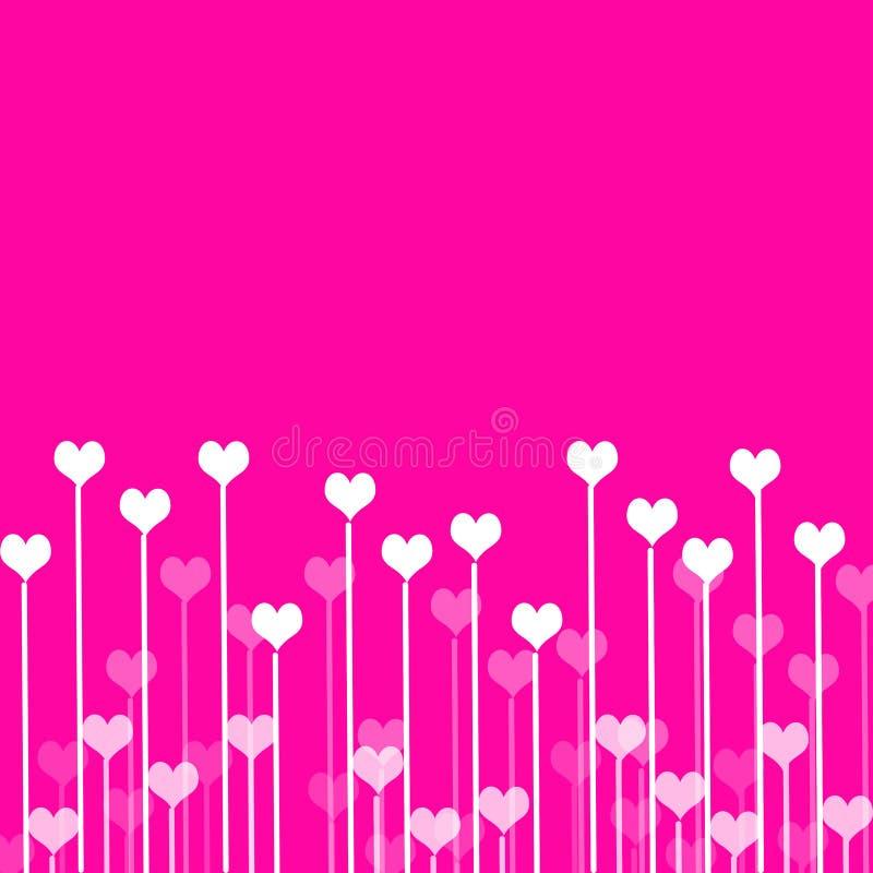 Ανασκόπηση αγάπης με τις καρδιές ελεύθερη απεικόνιση δικαιώματος