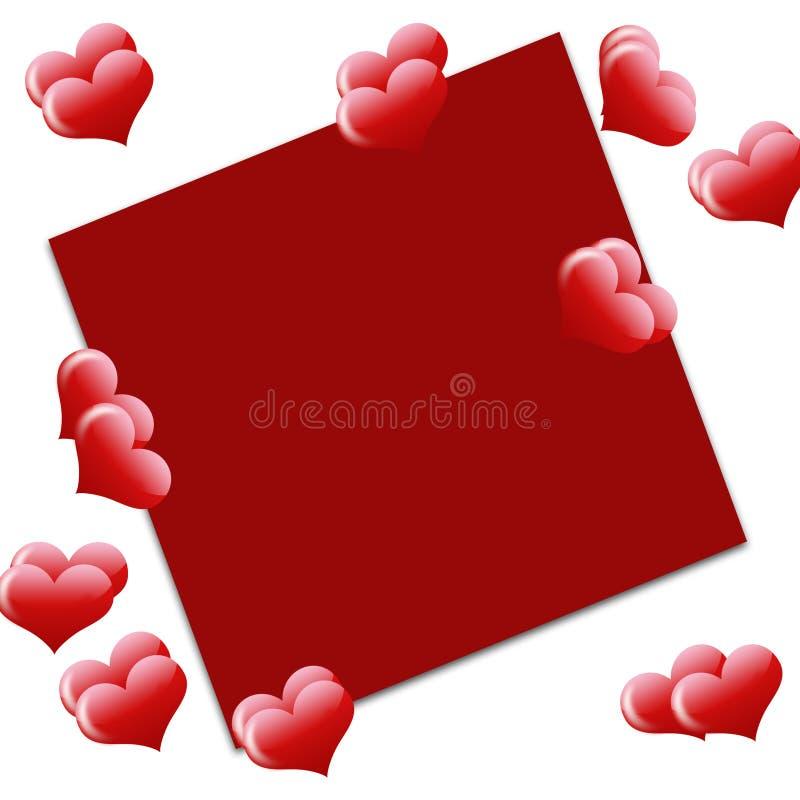 Ανασκόπηση αγάπης με το plsce για το κείμενο διανυσματική απεικόνιση