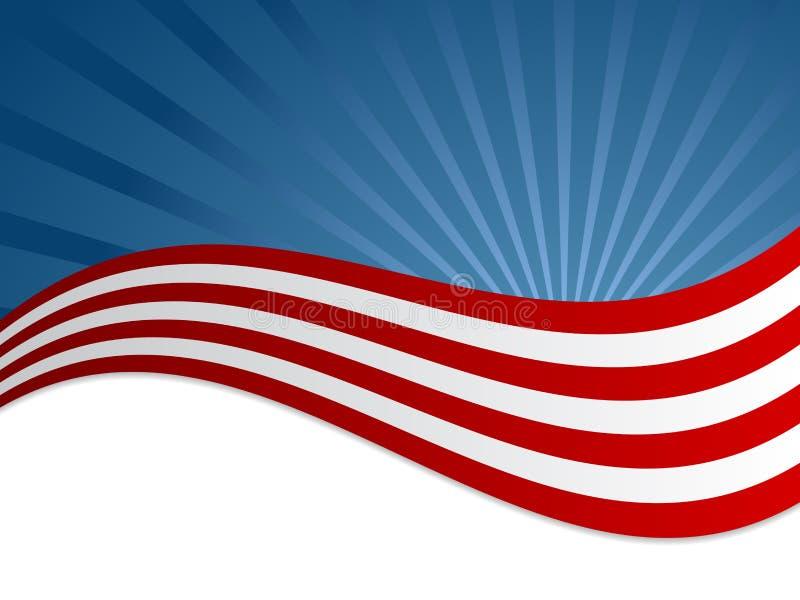 Ανασκόπηση αμερικανικών σημαιών ελεύθερη απεικόνιση δικαιώματος