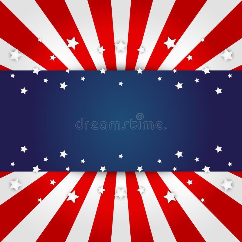 Ανασκόπηση αμερικανικών σημαιών διανυσματική απεικόνιση