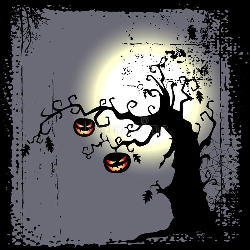 Ανασκόπηση αποκριών - scary δέντρο ελεύθερη απεικόνιση δικαιώματος