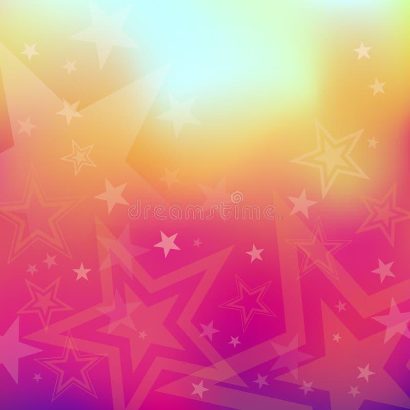 Ανασκόπηση αστεριών διανυσματική απεικόνιση