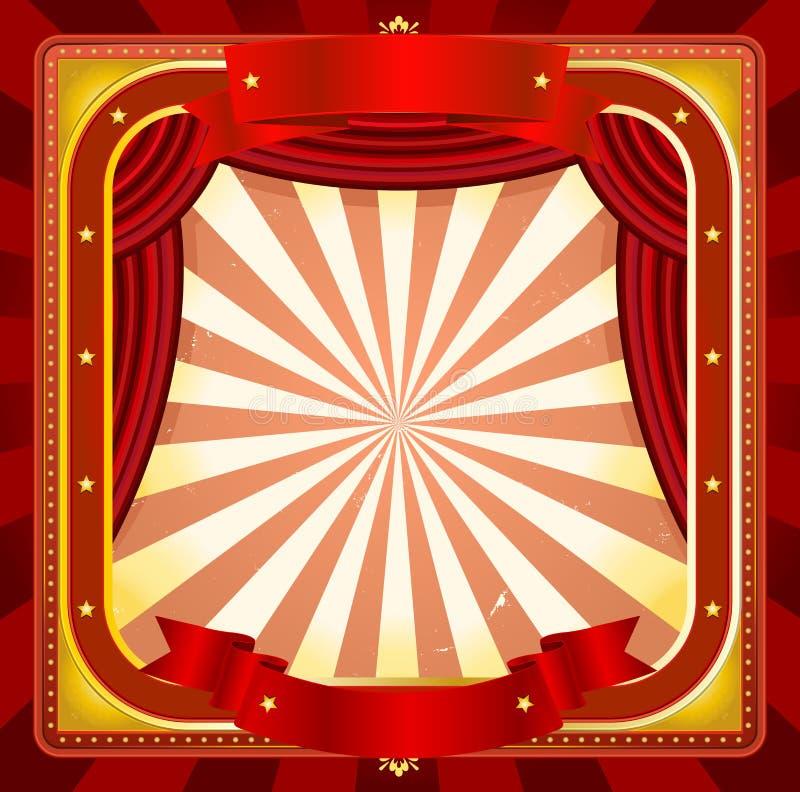 Ανασκόπηση αφισών πλαισίων τσίρκων διανυσματική απεικόνιση