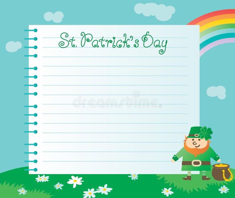 Ανασκόπηση για την ημέρα του ST Patricks ελεύθερη απεικόνιση δικαιώματος