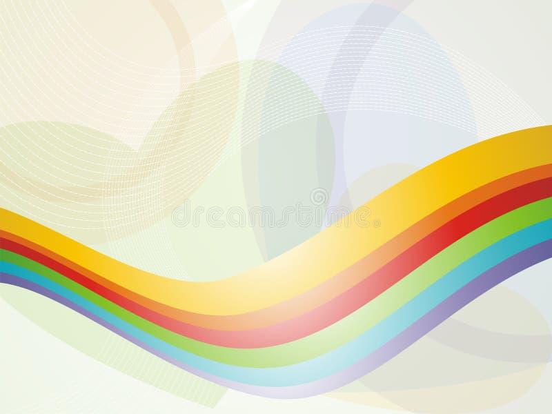 Ανασκόπηση γραμμών κυμάτων ουράνιων τόξων διανυσματική απεικόνιση