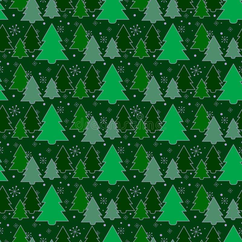 ανασκόπηση εορταστική πρότυπο άνευ ραφής Δέντρο Η πράσινη ανασκόπηση νέο έτος Χριστουγέννων Σύσταση για τον Ιστό, τυπωμένη ύλη, ελεύθερη απεικόνιση δικαιώματος