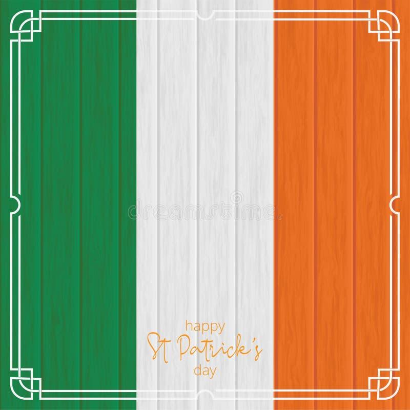 ανασκόπηση ημέρα Πάτρικ s ST ιρλανδική σημαία, ξύλινο υπόβαθρο Κέλτης στοκ φωτογραφίες με δικαίωμα ελεύθερης χρήσης