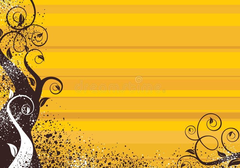 ανασκόπηση κίτρινη διανυσματική απεικόνιση