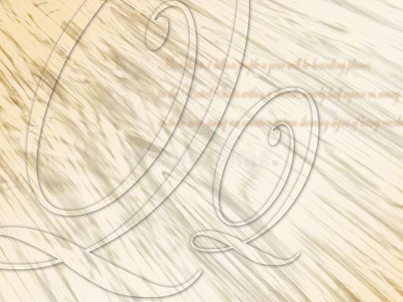 ανασκόπηση καλλιγραφική διανυσματική απεικόνιση