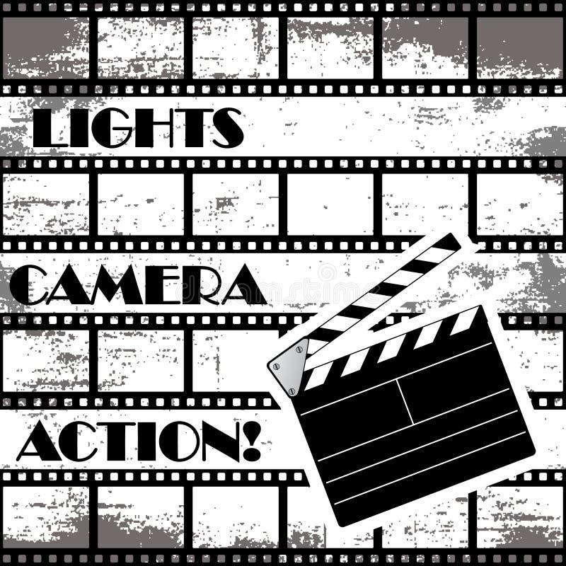Ανασκόπηση κινηματογράφων ελεύθερη απεικόνιση δικαιώματος