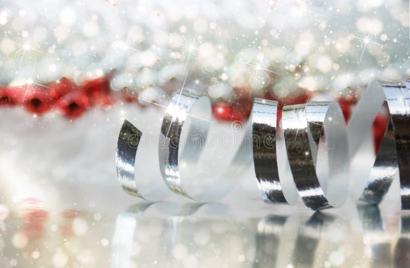 Ανασκόπηση κορδελλών Χριστουγέννων στοκ εικόνα με δικαίωμα ελεύθερης χρήσης