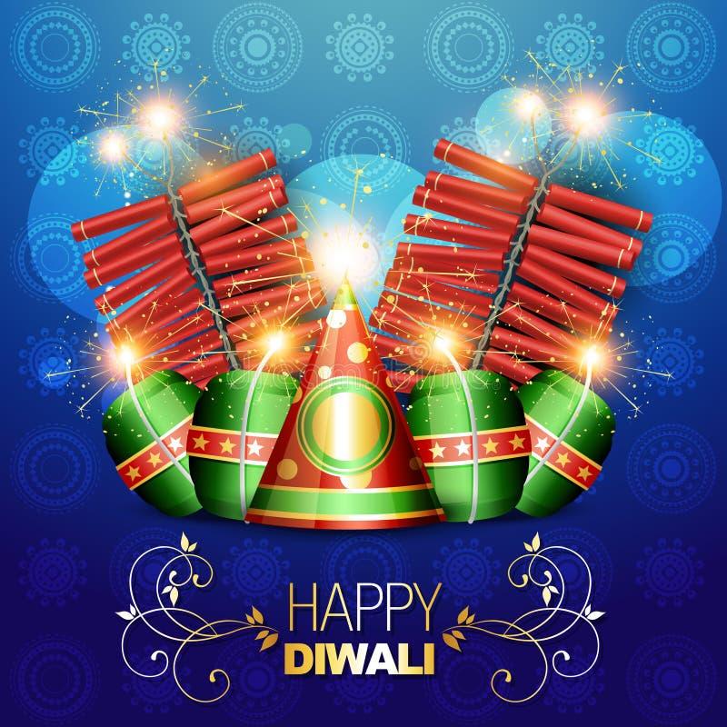 Ανασκόπηση κροτίδων Diwali ελεύθερη απεικόνιση δικαιώματος