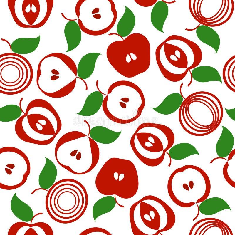 ανασκόπηση μήλων άνευ ραφής διανυσματική απεικόνιση