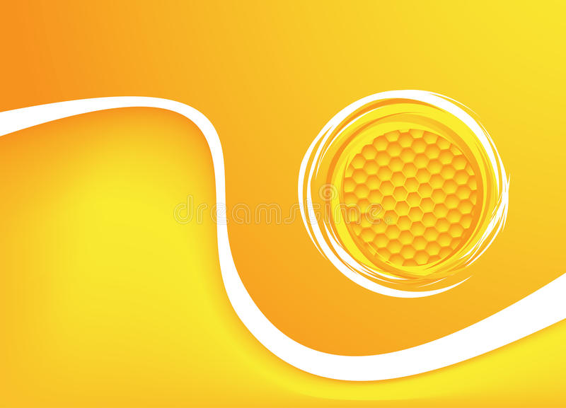 Ανασκόπηση μελιού. Διανυσματική απεικόνιση απεικόνιση αποθεμάτων