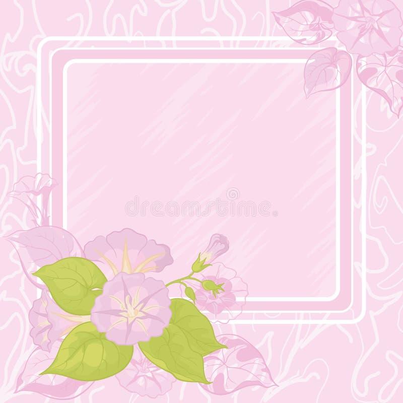 Ανασκόπηση με τα λουλούδια Ipomoea απεικόνιση αποθεμάτων