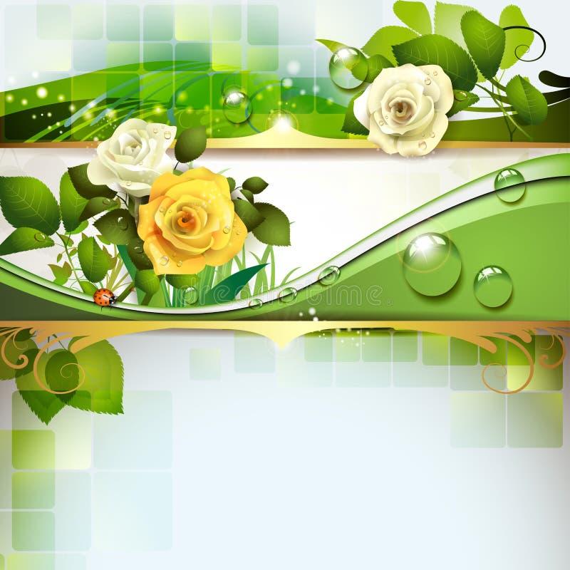 Ανασκόπηση με τα τριαντάφυλλα ελεύθερη απεικόνιση δικαιώματος
