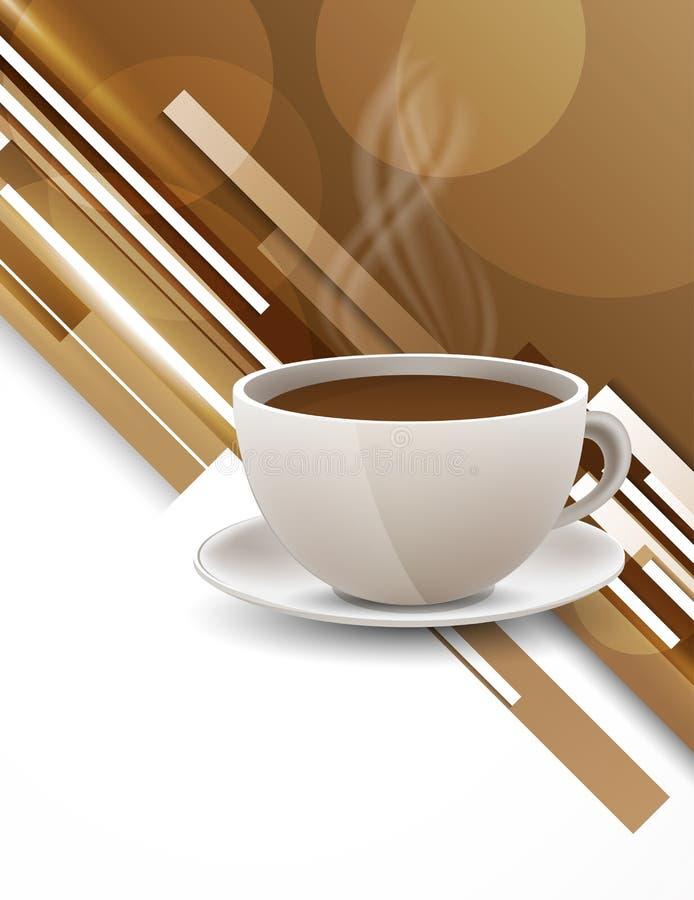 Ανασκόπηση με το φλυτζάνι καφέ διανυσματική απεικόνιση