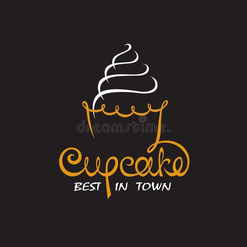 Ανασκόπηση με το cupcake ελεύθερη απεικόνιση δικαιώματος