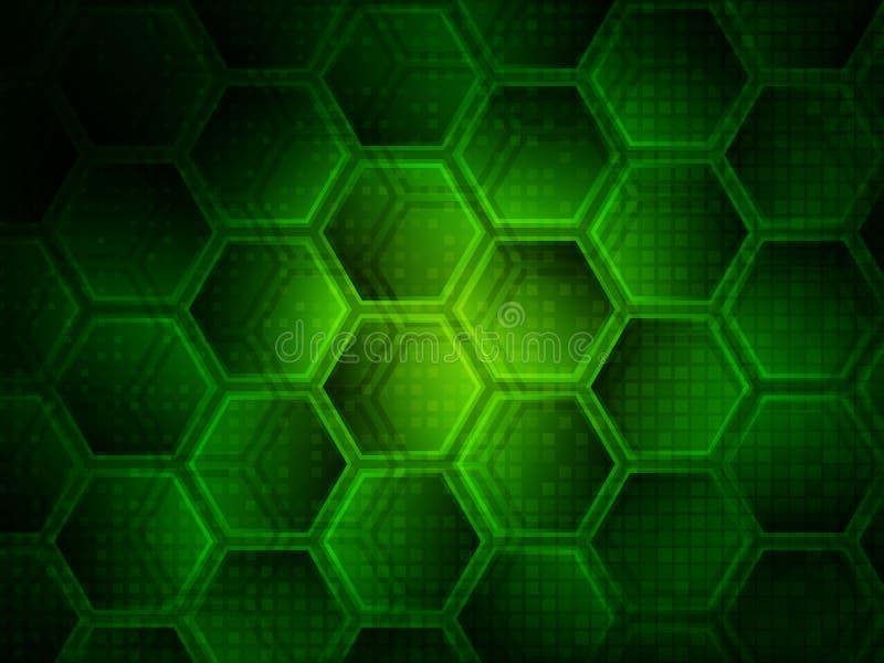 Ανασκόπηση με hexagons Ψηφιακή έννοια τεχνολογίας υψηλής τεχνολογίας αφηρημένη ανασκόπηση επίσης corel σύρετε το διάνυσμα απεικόν απεικόνιση αποθεμάτων