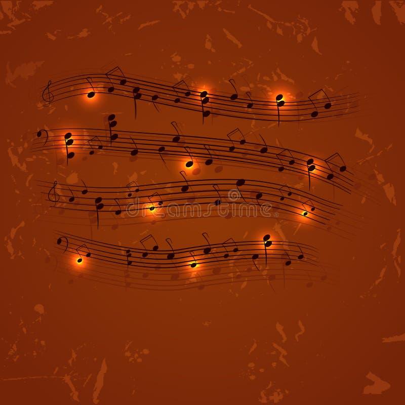 ανασκόπηση μουσική απεικόνιση αποθεμάτων