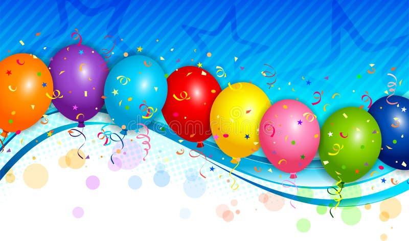 Ανασκόπηση μπαλονιών διανυσματική απεικόνιση