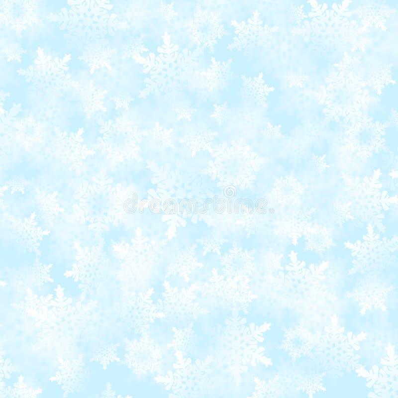 Ανασκόπηση νιφάδων χιονιού διανυσματική απεικόνιση