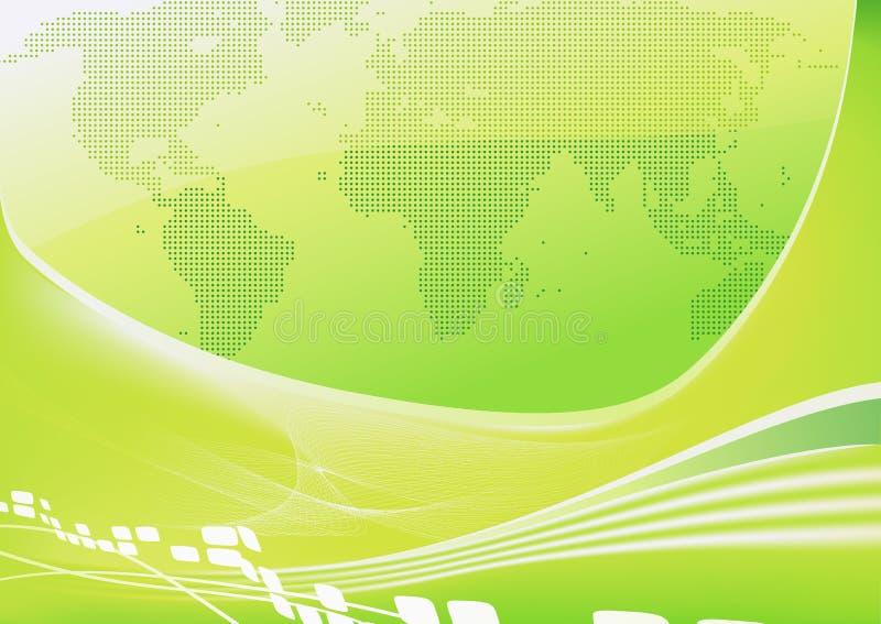 Ανασκόπηση παγκόσμιων χαρτών ελεύθερη απεικόνιση δικαιώματος