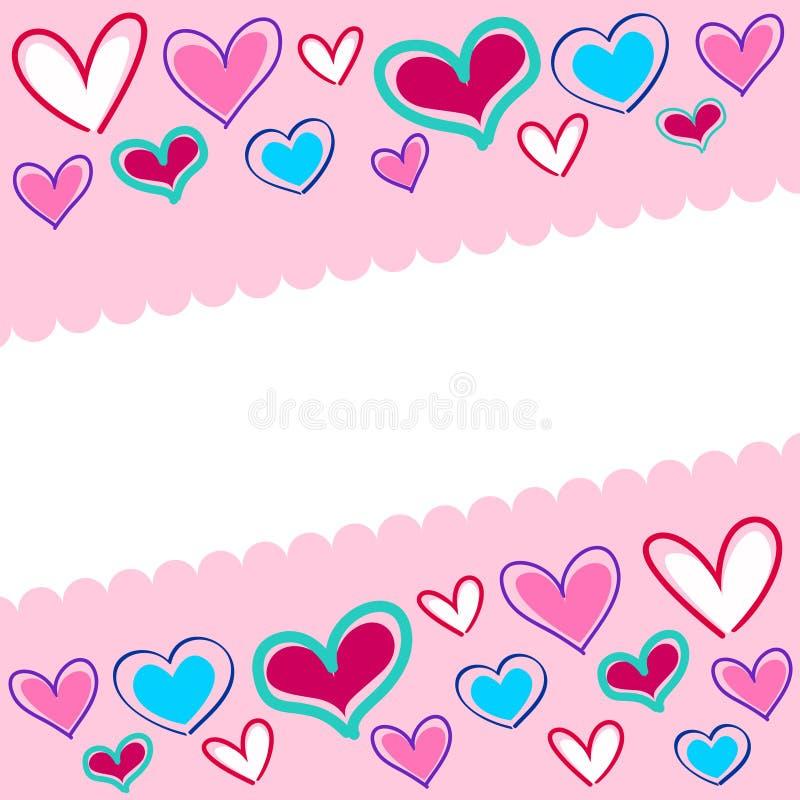Ανασκόπηση πολλών καρδιών διανυσματική απεικόνιση