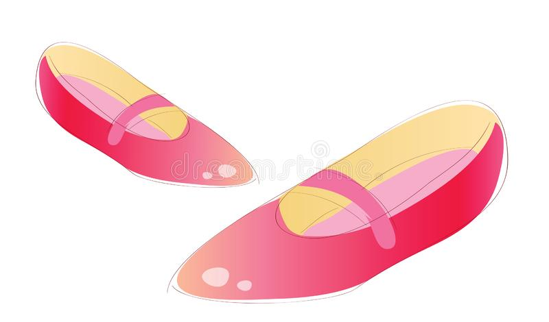 ανασκόπηση που απομονώνεται πέρα από τη λευκή γυναίκα παπουτσιών Διάνυσμα των θηλυκών παπουτσιών συλλογής ελεύθερη απεικόνιση δικαιώματος