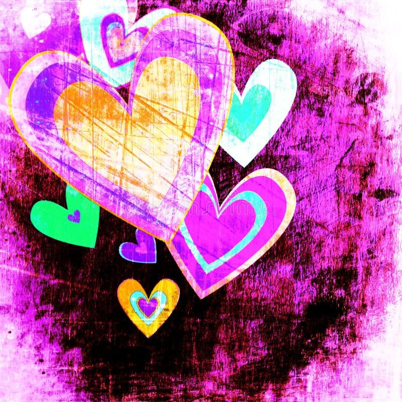 Ανασκόπηση προτύπων αγάπης Grunge διανυσματική απεικόνιση