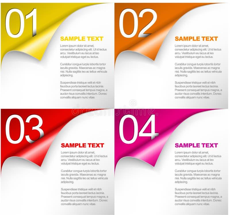 ανασκόπηση τέσσερα μια πρόοδος τρία διάνυσμα δύο απεικόνιση αποθεμάτων