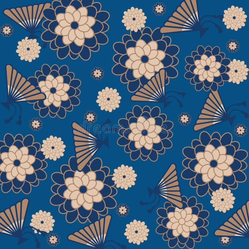 ανασκόπηση τα floral ιαπωνικά ελεύθερη απεικόνιση δικαιώματος