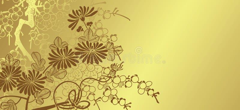 ανασκόπηση τα floral ιαπωνικά απεικόνιση αποθεμάτων