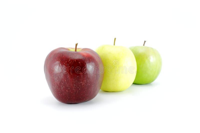 ανασκόπηση τρία μήλων λευ&kapp στοκ φωτογραφίες με δικαίωμα ελεύθερης χρήσης