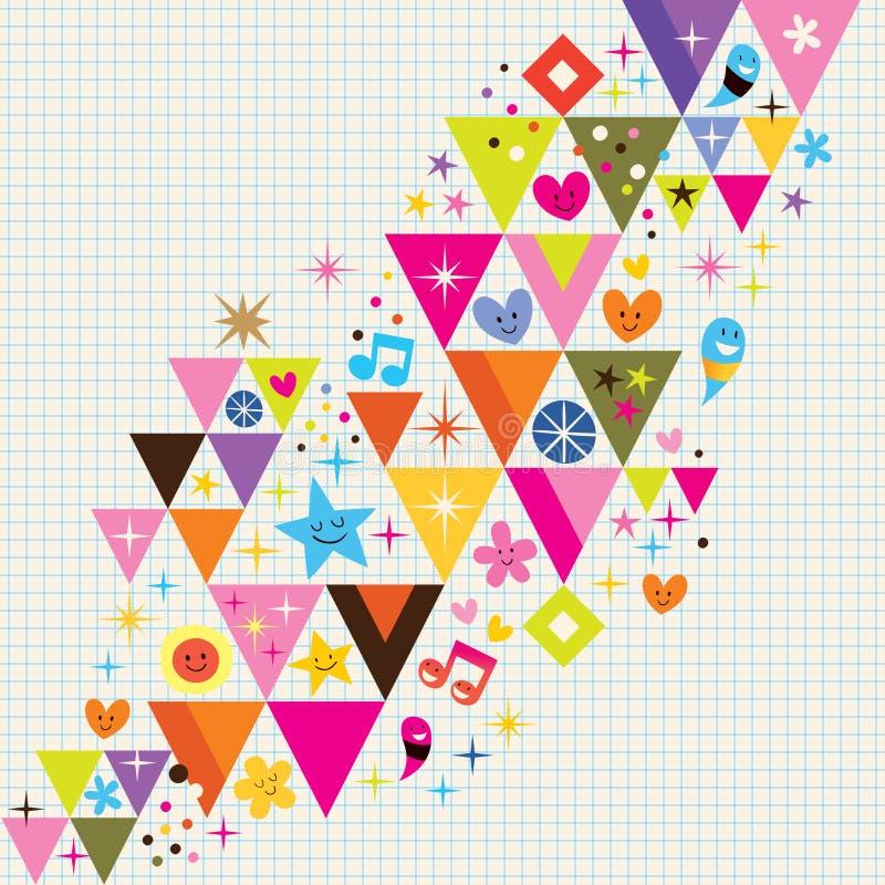 Ανασκόπηση τριγώνων διασκέδασης απεικόνιση αποθεμάτων