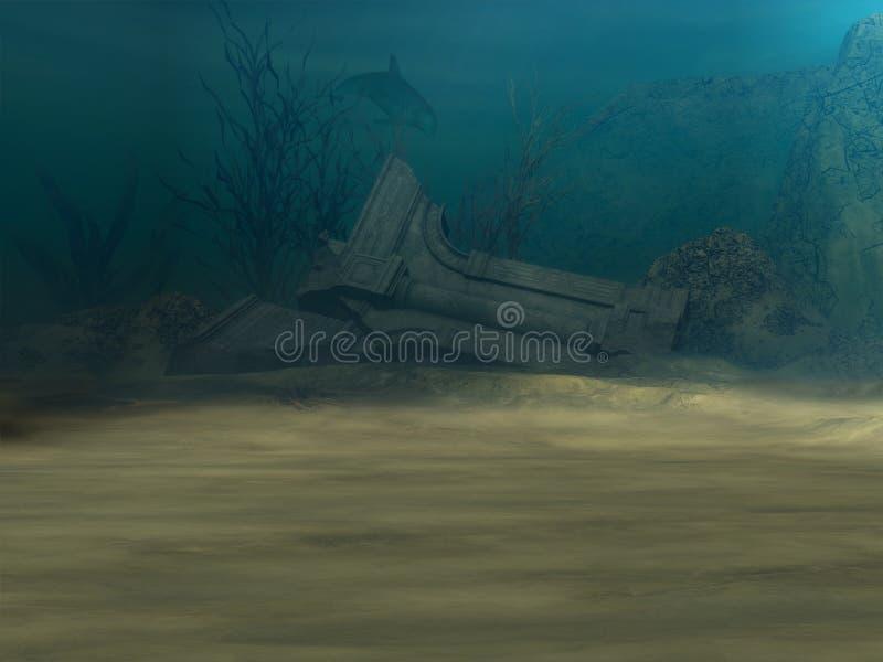 ανασκόπηση υποβρύχια διανυσματική απεικόνιση