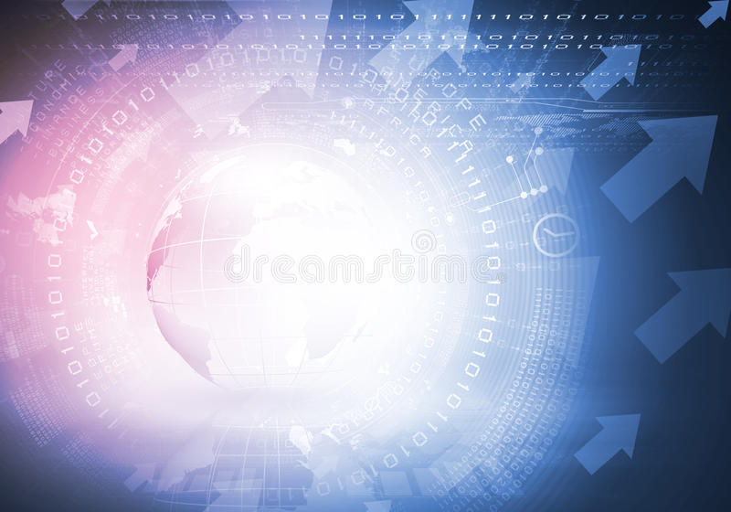 Ανασκόπηση υψηλής τεχνολογίας ελεύθερη απεικόνιση δικαιώματος